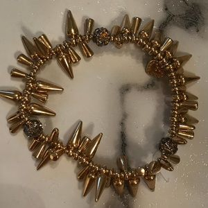 Stella & Dot Gold Renegade cluster bracelet